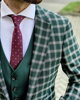 Мужской пиджак зеленого цвета. Арт.:2-1801-2