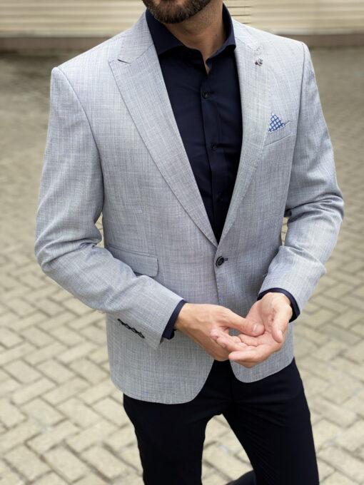 Серый мужской пиджак. Арт.:2-1805-2