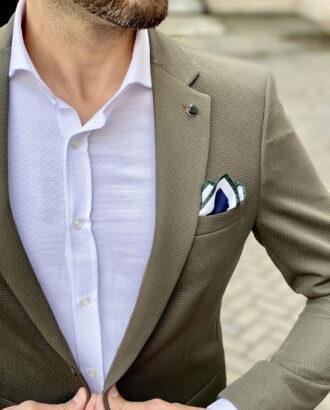 Мужской пиджак зеленого цвета. Арт.:2-1804-2