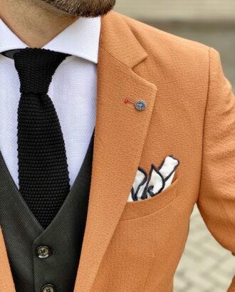 Светло-коричневый мужской пиджак. Арт.:2-1807-5