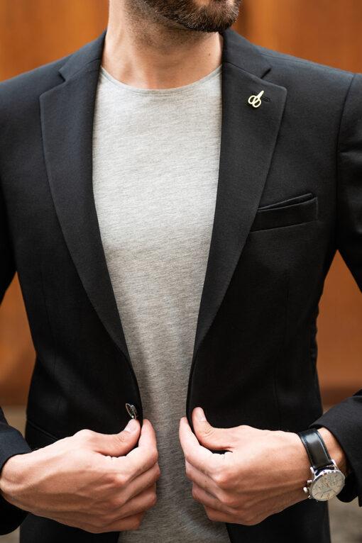 Черный базовый пиджак. Арт.:2-1754-2