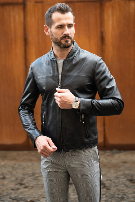 Мужская кожаная куртка. Арт.:15-1755