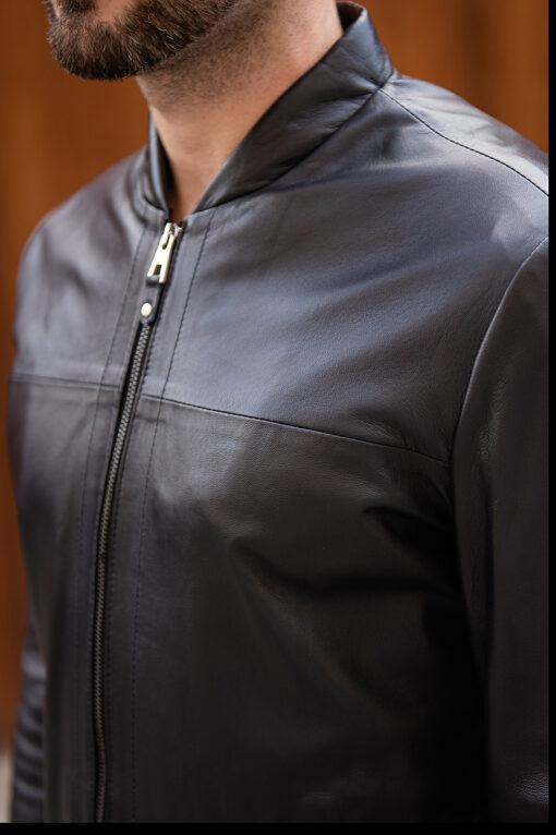 Черная кожаная куртка. Арт.:15-1769