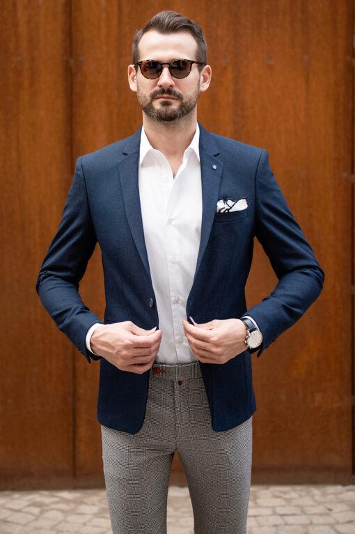 Синий мужской пиджак. Арт.:2-1771-2
