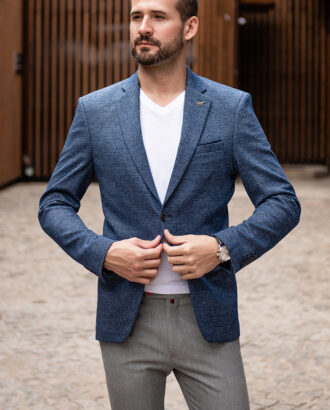 Синий мужской пиджак. Арт.:2-1774-2