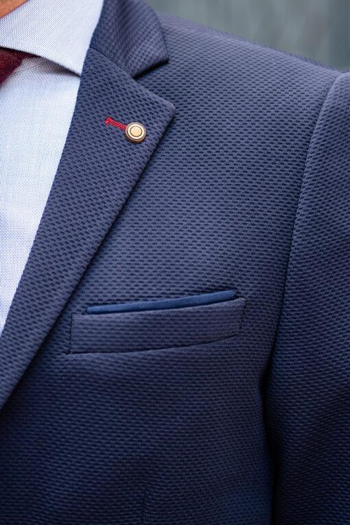 Базовый синий пиджак. Арт.:2-1792-2