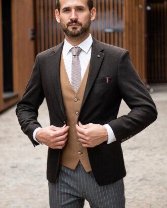 Коричневый мужской пиджак. Арт.:2-1794-2