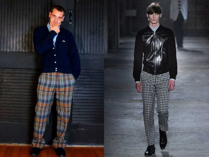Мужские клетчатые брюки. С чем сочетать?
