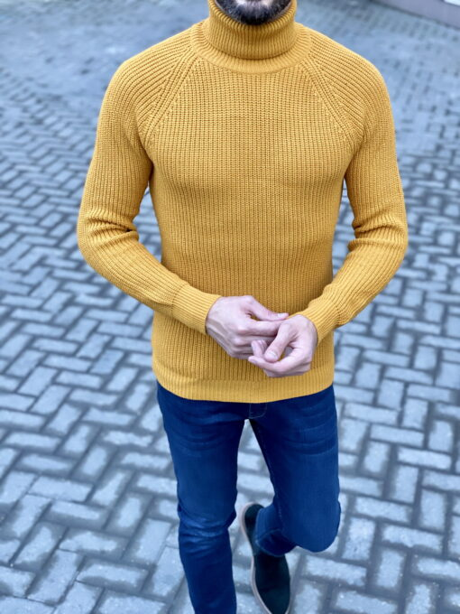 Желтая мужская водолазка. Арт.:8-1835