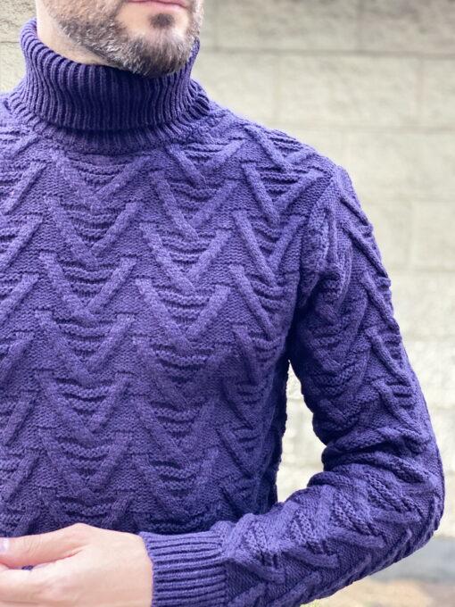 Мужской свитер фиолетового цвета. Арт.:8-1836