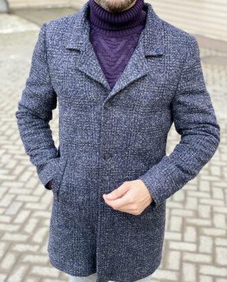 Мужское пальто в клетку. Арт.:1-1823-2