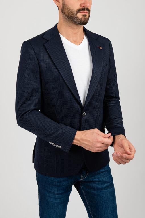 Мужской пиджак синего цвета. Арт.:2-1851-5