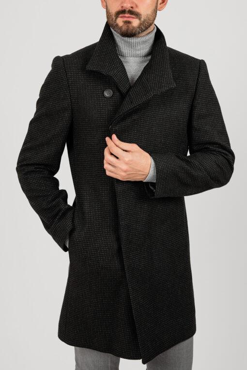 Мужское пальто, серого цвета Арт.:1-1852-2