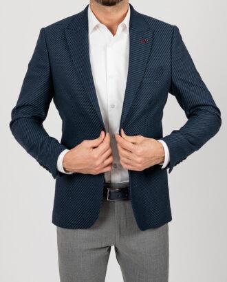 Приталенный темно-синий пиджак.Арт.:2-1854-5