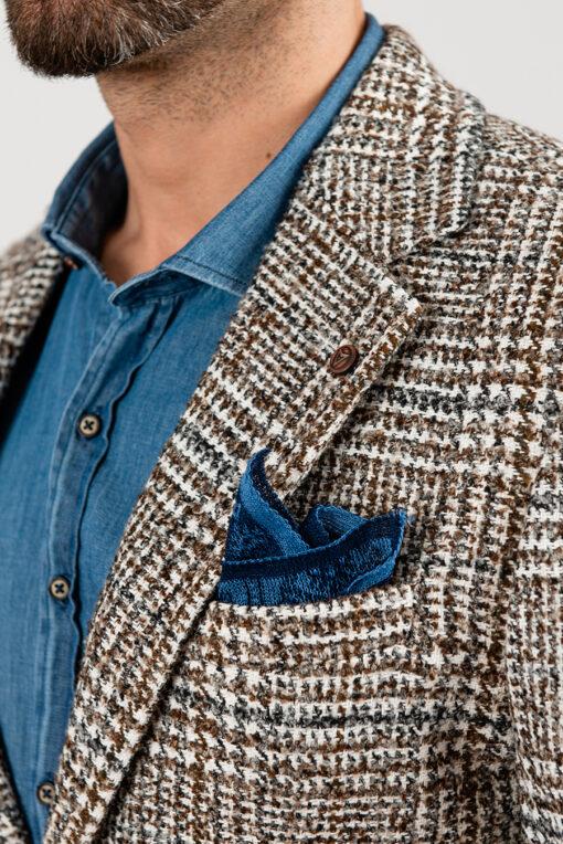 Клетчатый пиджак под джинсы. Арт.:2-1884-5
