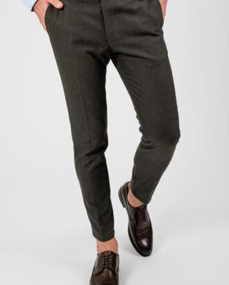 Мужские брюки зеленого цвета. Арт.:6-1873-3