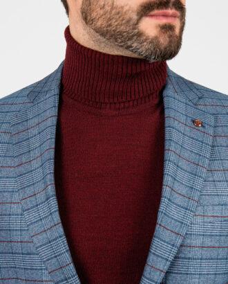 Мужской пиджак синего цвета в клетку. Арт.:2-1880-2