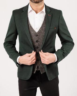 Приталенный пиджак изумрудного цвета. Арт.:2-1902-22