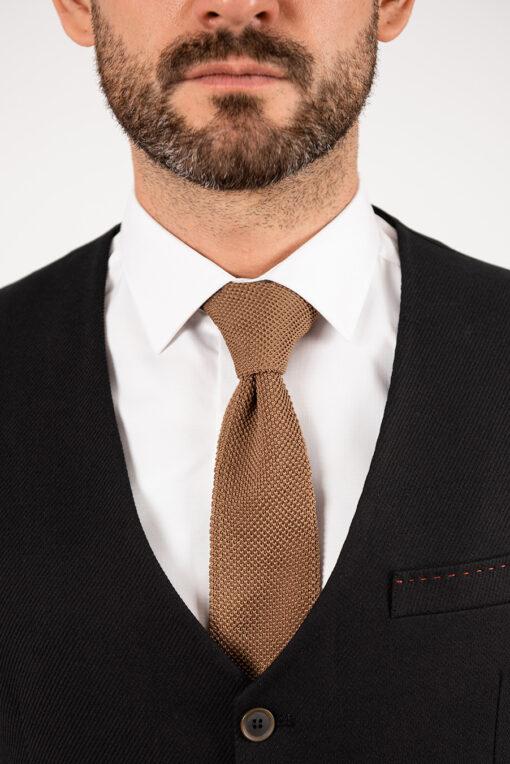 Мужской жилет чёрного цвета. Арт.:3-1905-3