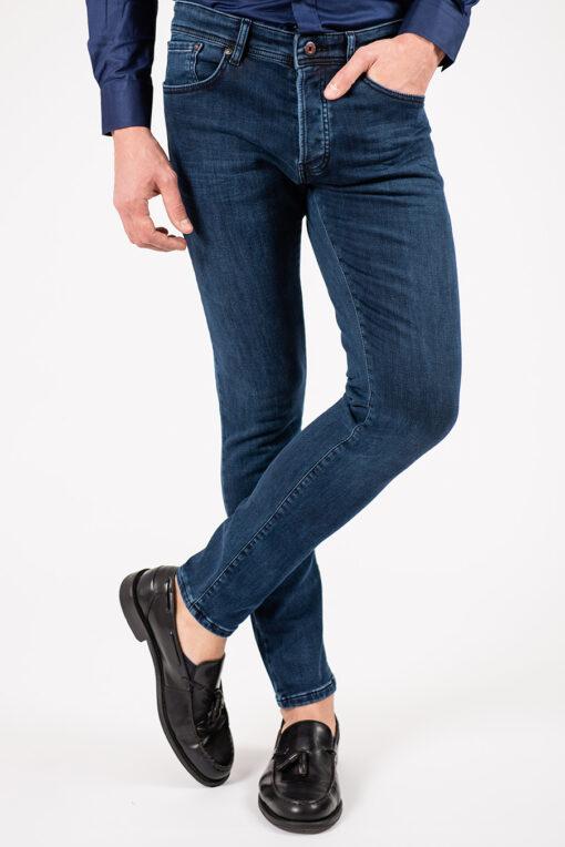 Мужские синие джинсы зауженного кроя. Арт.:7-1911