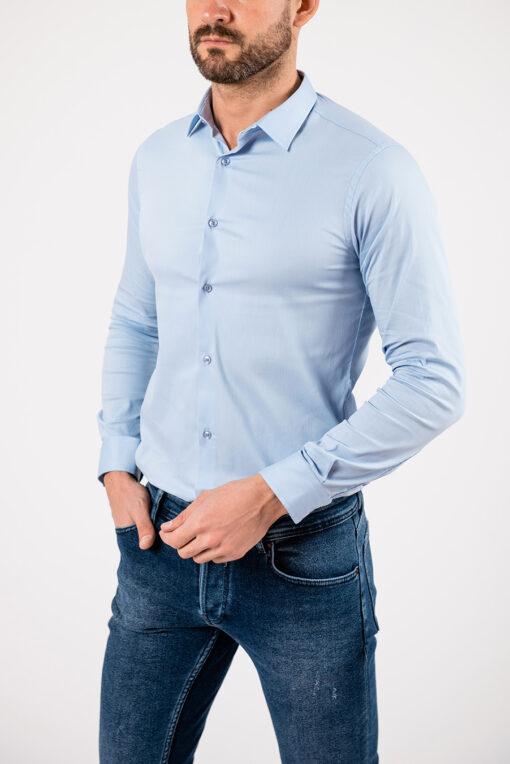 Мужская рубашка голубого цвета. Арт.:5-1913-8