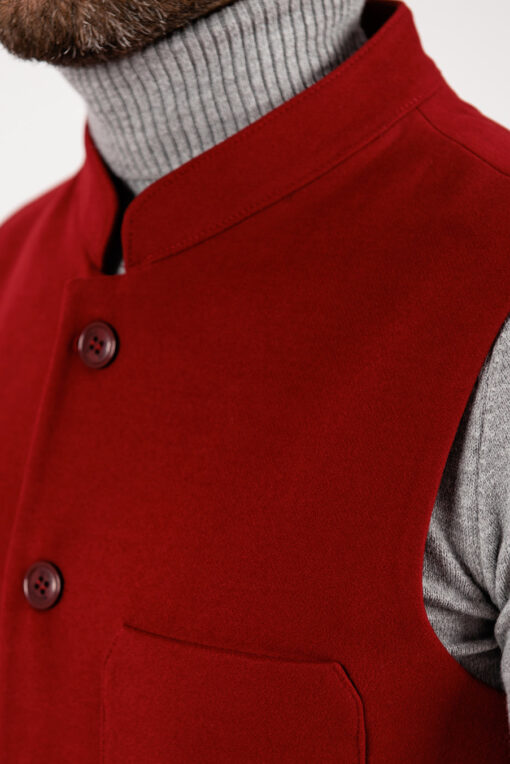 Оригинальный кэжуал жилет красного цвета. Арт.:3-1918-3