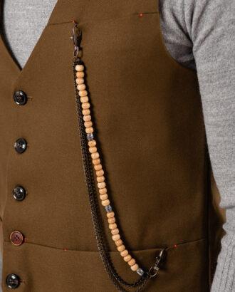 Мужской жилет светло-коричневого цвета. Арт.:3-1920-3