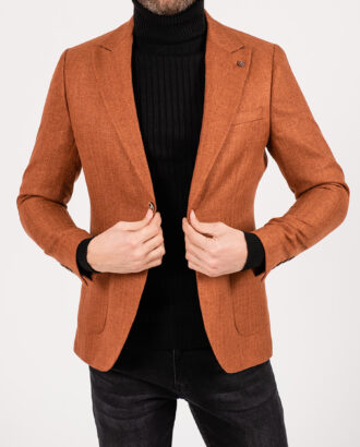 Мужской пиджак терракотового цвета. Арт.:2-1922-5