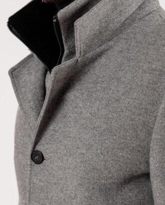 Зимнее пальто серого цвета. Арт.:1-1924-2