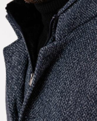 Стильное утепленное пальто серого цвета. Арт.:1-1927-2