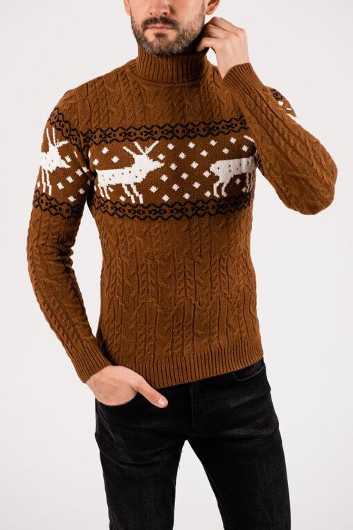 Стильный свитер с оленями. Арт.:8-1931