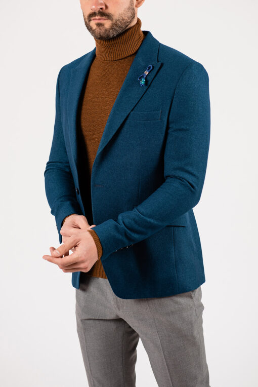 Мужской пиджак цвета морской волны. Арт.:2-1932-1