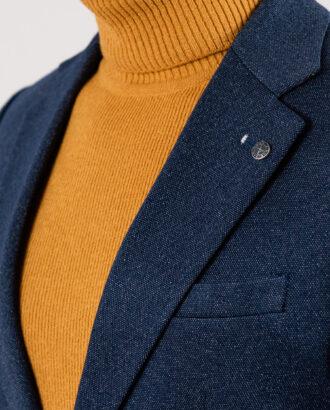 Мужской кэжуал пиджак синего цвета. Арт.:2-1935-5