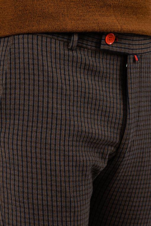 Коричневые брюки в клетку. Арт.:6-1942-3