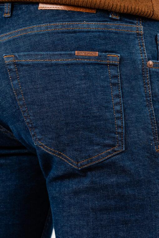 Мужские джинсы slim-fit синего цвета. Арт.:7-1944
