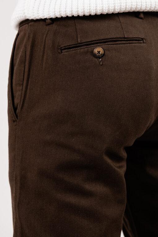 Брюки без стрелок коричневого цвета. Арт.:6-1946-2