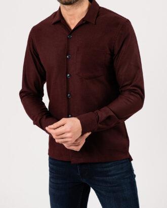 Мужская рубашка бордового цвета. Арт.:5-1947-3