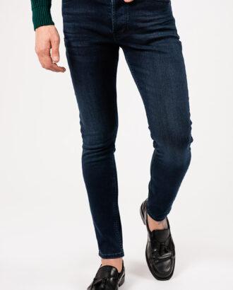 Мужские джинсы в цвете индиго. Арт.:7-1948