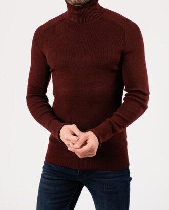 Мужская водолазка бордового цвета. Арт.:8-1950