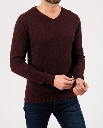 Мужской бордовый пуловер.Арт.:8-1952