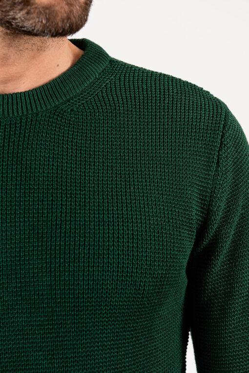 Мужской свитер зелёного цвета.Арт.:8-1953