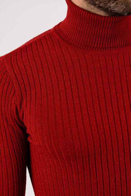 Мужская водолазка красного цвета.Арт.:8-1956