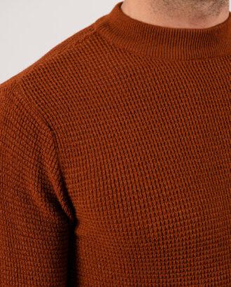 Мужской джемпер терракотового цвета.Арт.:8-1957