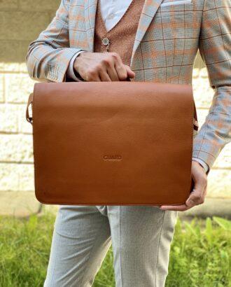 Мужской портфель коричневого цвета. Арт.:20-002