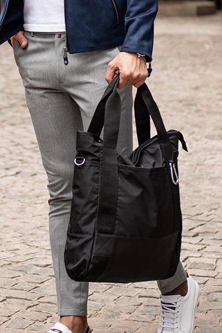 Черная сумка с длинными ручками. Арт.:20-004
