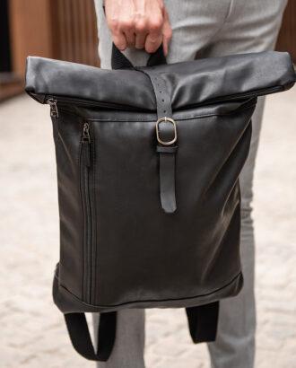 Дизайнерский рюкзак черного цвета. Арт.:20-005