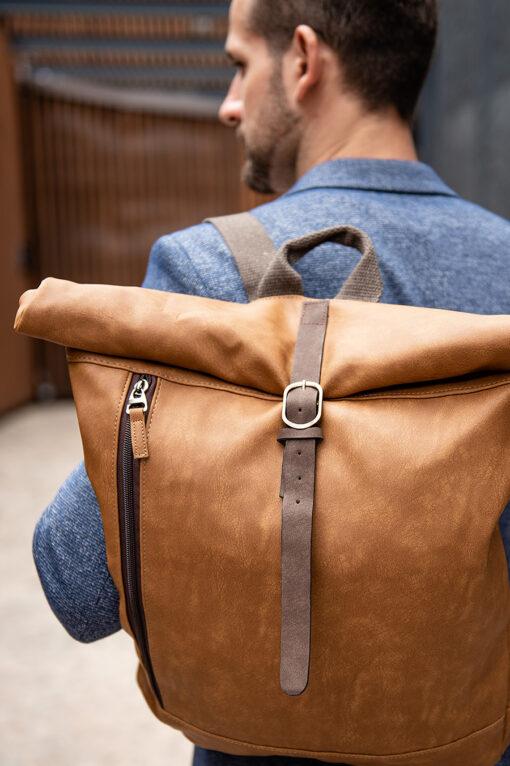 Кэжуал рюкзак коричневого цвета. Арт.:20-006