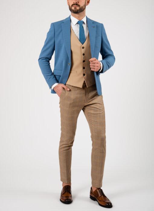 Мужской блейзер голубого цвета. Арт.:2-2102-1