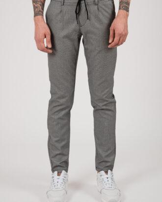 Серые мужские брюки зауженного кроя на шнурке. Арт.:6-2161-2