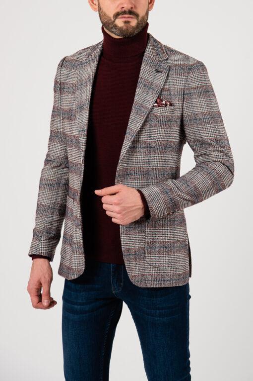Клетчатый мужской пиджак на каждый день. Арт.:2-2104-5